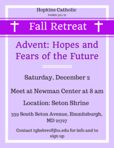 Fall Retreat 2017 Flyer